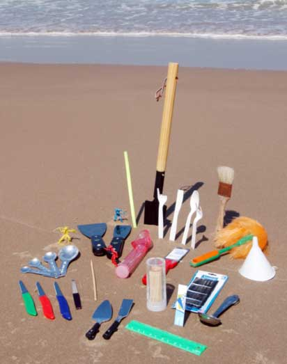 Sand Carving Tools On The